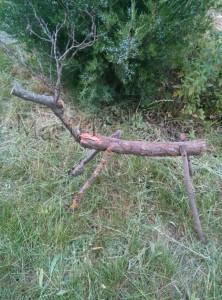деревянный олень